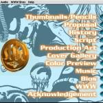 SubHuman Demo CD-ROM - Menu Screen (Copyright Michael Ryan and Mark Schultz)