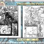 SubHuman Demo CD-ROM - Thumbnails Screen (Copyright Michael Ryan and Mark Schultz)