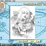 SubHuman Demo CD-ROM - Production Art Screen (Copyright Michael Ryan and Mark Schultz)