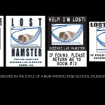 Lost Hamster Bulletin Board Flyers for 'Level Up'