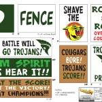 Third set of Trojan Team Cheer Banners for television series 'Level Up'.