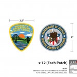 Psych (Season 7) - Law Enforcement Patches - Sheriff's Department Marin County and Department of Justice - Federal Bureau of Prisons