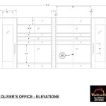 World on Fire - Drawing - Trans Nova Oil - Regional HQ - Oliver's Office - Elevations
