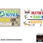 World on Fire - Graphics - Paxton School Music Donation Banners