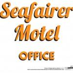 Bates Motel (Season 1) - Graphics - Seafairer Motel Office Door Sign