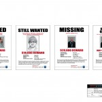 Metropolitan Police Wanted posters for the television series, 'King & Maxwell (Season 1).'
