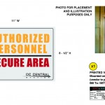 "Authorized Personnel cover-up sign for the television series, ""King & Maxwell (Season 1)."""