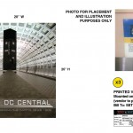 "DC Central cover-up signs for the television series, ""King & Maxwell (Season 1)."""