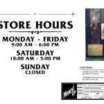 Monkey Up - Hartz Toyz Store - Hours Sign