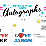 Untitled Beverly Hills 90210 Story - Autograph Banner and Fan Signs