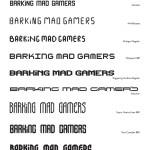 Warriors Gate - Barking Mad Gamers Logo - Font Options