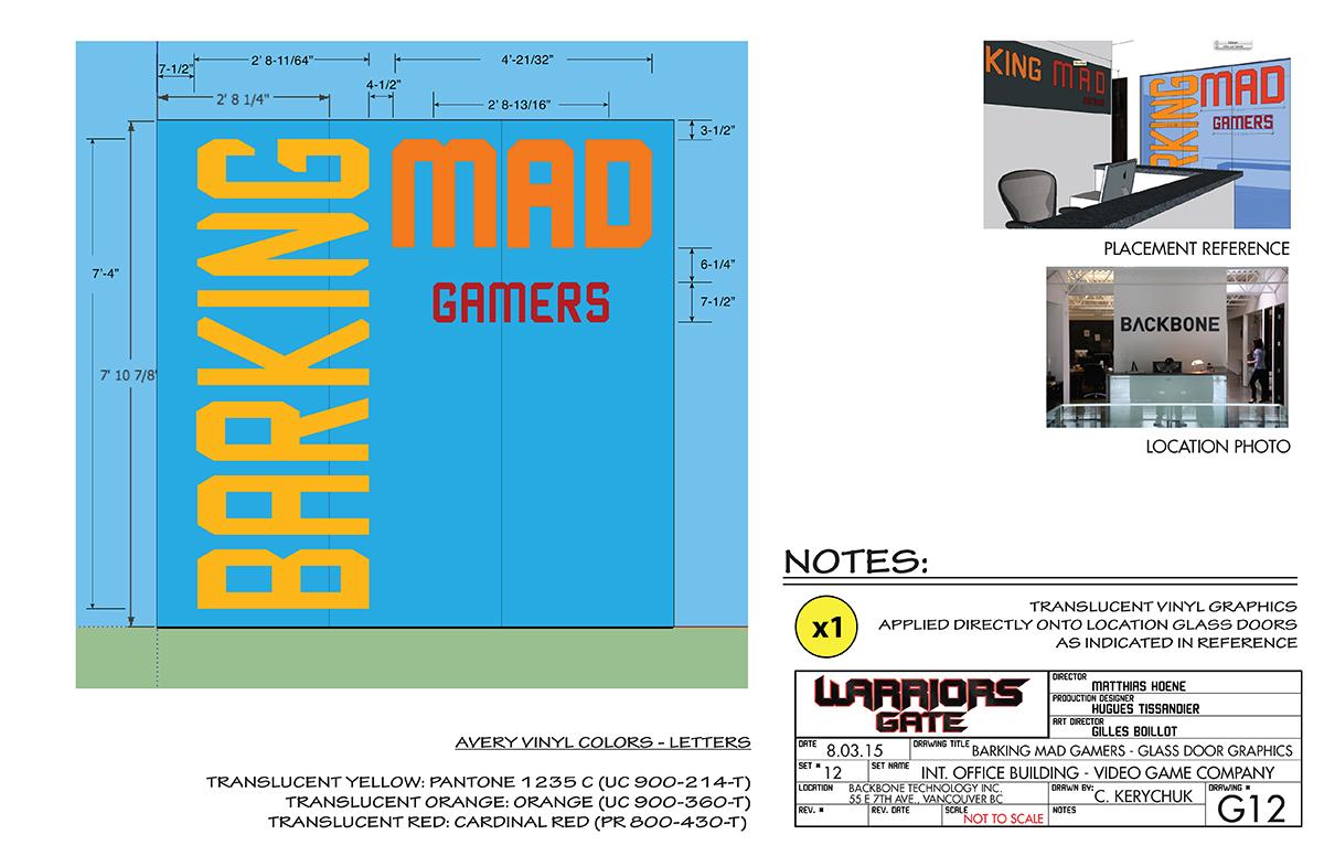 Warrior's Gate - Barking Mad Gamers - Glass Door Graphics