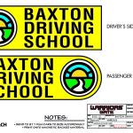 Warrior's Gate - Graphics - Baxton Driving School Door Graphic