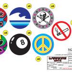 Warriors Gate - Generic Stickers - Circular
