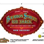 Pupstar - Bourbon Street Rib Shack - Logo/Hanging Sign