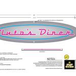 Pupstar - Pluto's Diner - Logo/Neon Sign